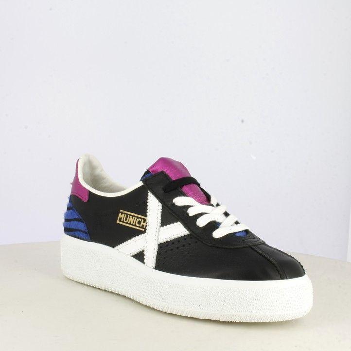 Zapatillas deportivas MUNICH negras con cordones barru sky 40 - Querol online