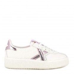 Zapatillas deportivas MUNICH blancas con cordones detalles brillantes barru sky 40