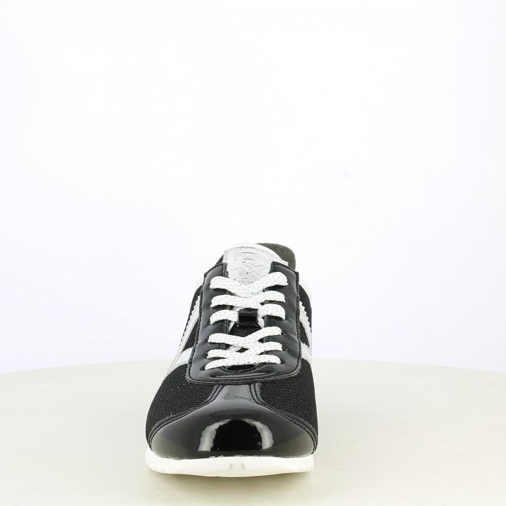 Zapatillas deportivas MUNICH negras con detalles brillantes osaka 408 - Querol online