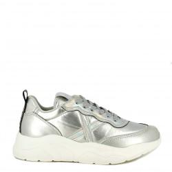 Zapatillas deportivas MUNICH plata con cordones wave 22