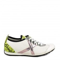 Zapatillas deportivas MUNICH blancas osaka con detalles en animal print
