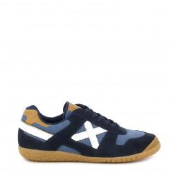 Zapatillas deportivas MUNICH azul marino con cordones del mismo color goal - Querol online