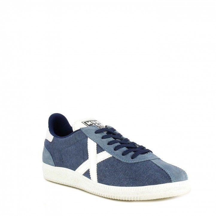 Zapatillas deportivas MUNICH denim barru 83 con detalles en blanco - Querol online