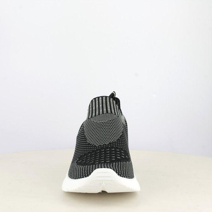 Sabatilles esportives Xti jaspiat en negre i gris sense cordons amb tèxtil elàstic - Querol online
