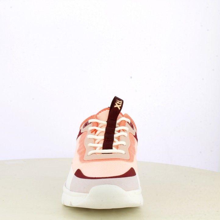 Zapatillas deportivas Xti tonos coral con cordones y suela de goma muy ligeras - Querol online