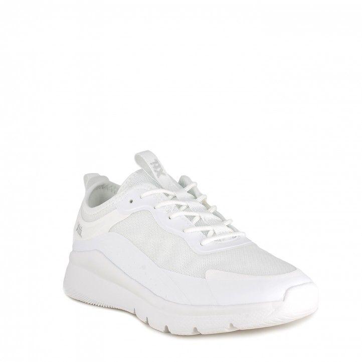 Zapatillas deportivas Xti blanco con cordones y suela de goma muy ligeras - Querol online