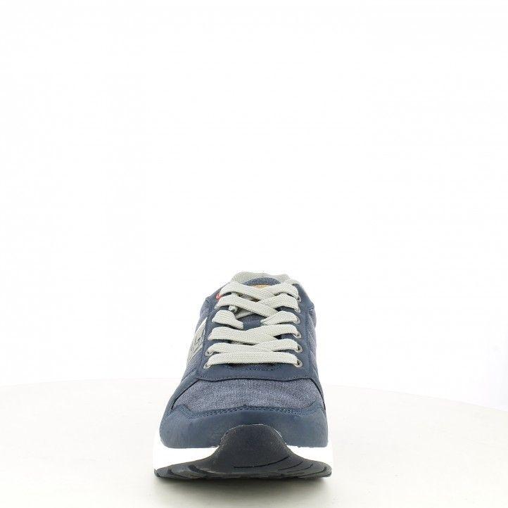 Zapatillas deportivas Xti azul con cordones y detalles en gris - Querol online