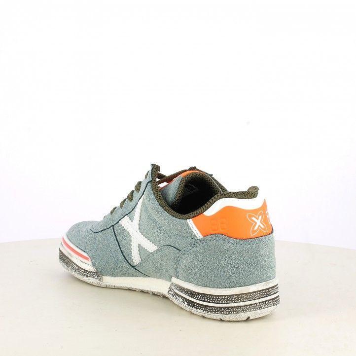 Zapatillas deporte MUNICH gris con detalles en blanco y naranja g-3 kid glow - Querol online