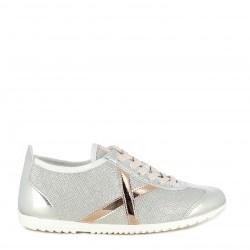 Zapatillas deportivas MUNICH plata con detalles en rosa brillante osaka 409