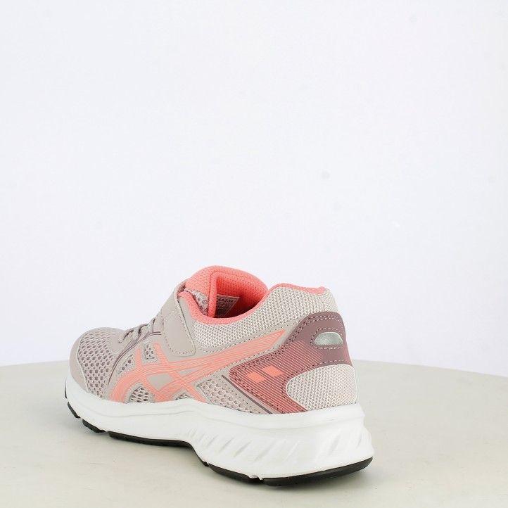 Zapatillas deporte Asics rosa con elásticos y velcro jolt 2 - Querol online