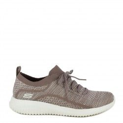 Zapatillas deportivas Skechers morado jaspeado con cordones elásticos ultra flex - Querol online
