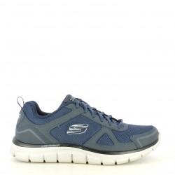 Zapatillas deportivas Skechers azul marino con cordones plantilla memory foam