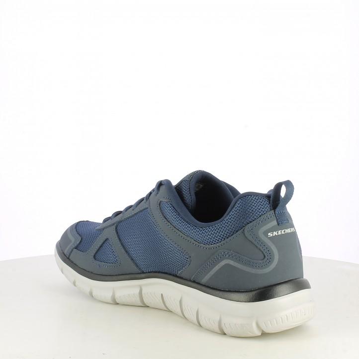 Zapatillas deportivas Skechers azul marino con cordones plantilla memory foam - Querol online
