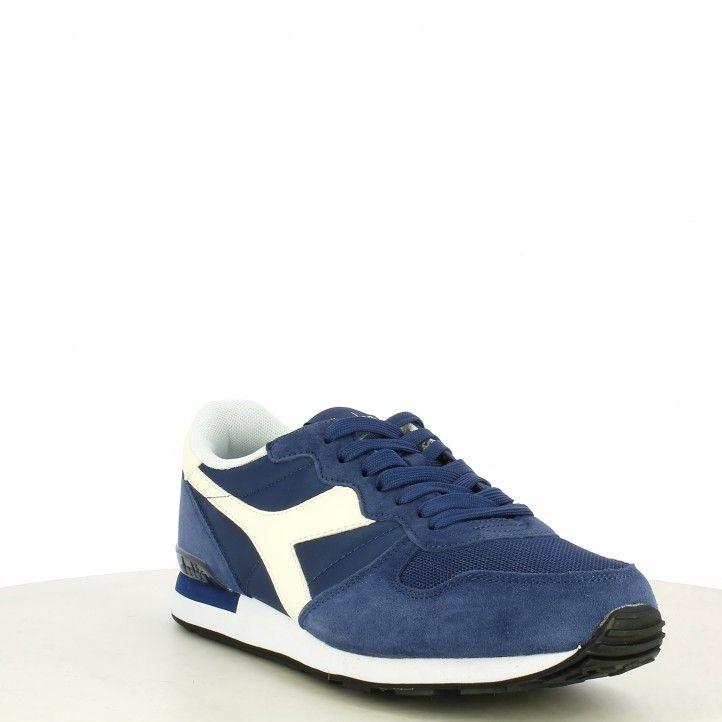 Zapatillas deportivas Diadora azul y blanco con cordones camaro - Querol online