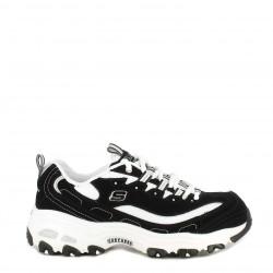Zapatillas deportivas Skechers blanca y negra d´lites giggest fan