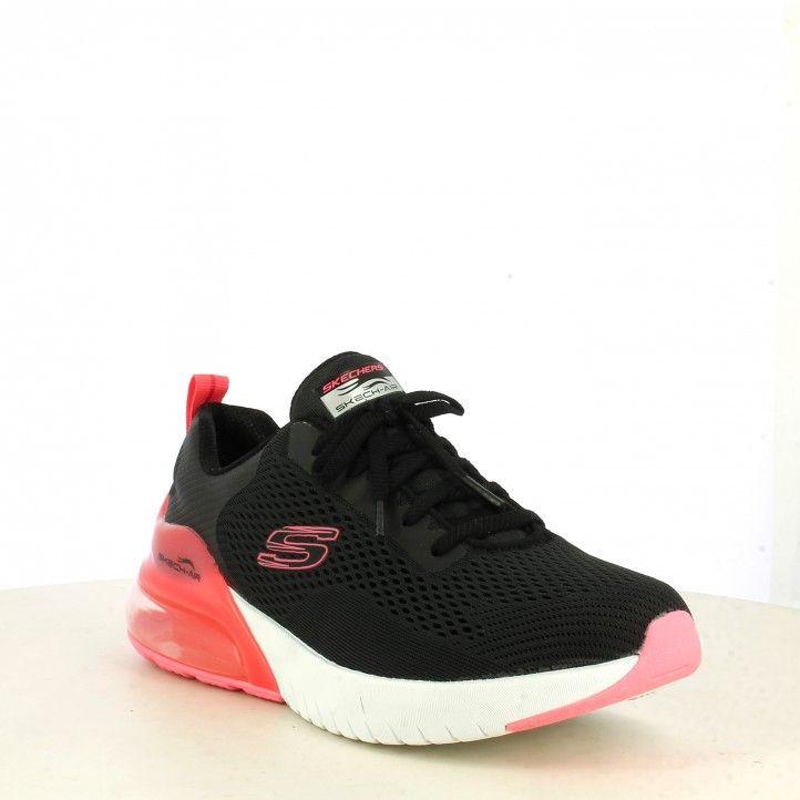 Sabatilles esportives Skechers negres camara d´aire rosa skech air stratus plantilla memory foam - Querol online