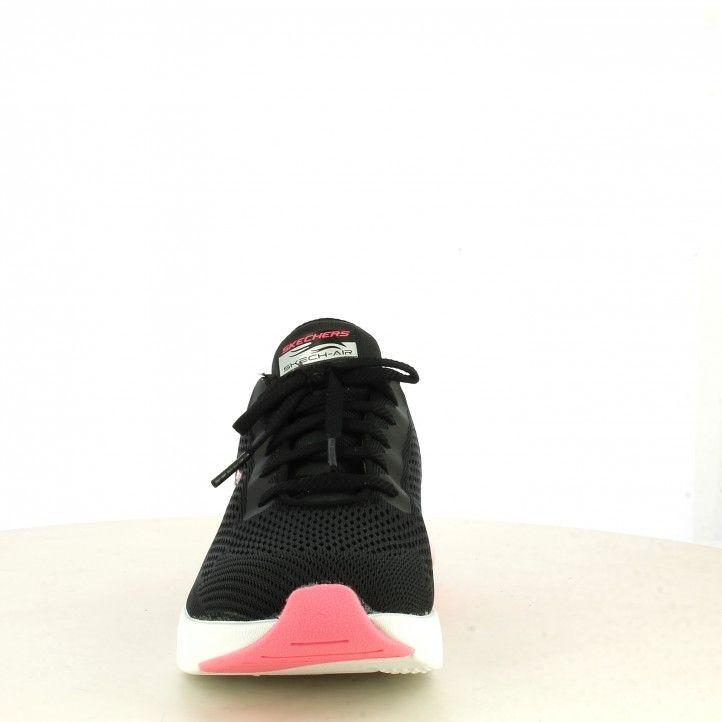Zapatillas deportivas Skechers negras camara de aire rosa skech air stratus plantilla memory foam - Querol online