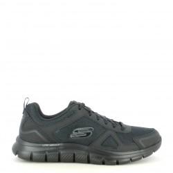 Zapatillas deportivas Skechers negras con cordones plantilla memory foam - Querol online