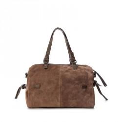 bolsos Carmela camel con doble posición y tachas decorativas cierre con cremallera - Querol online