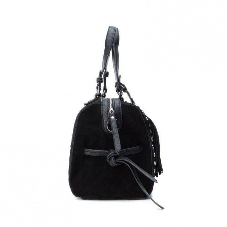 bolsos Carmela negro con doble posición y tachas decorativas cierre con cremallera - Querol online
