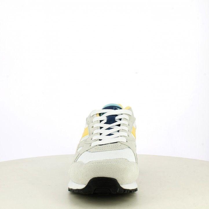 Sabatilles esportives Diadora blanques amb detalls en blau i groc n902s - Querol online