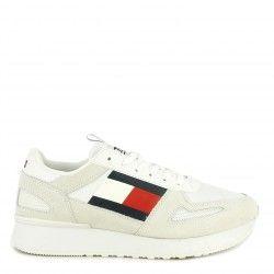 Zapatillas deportivas Tommy Hilfiger blanca con cordones lifestyle runner - Querol online