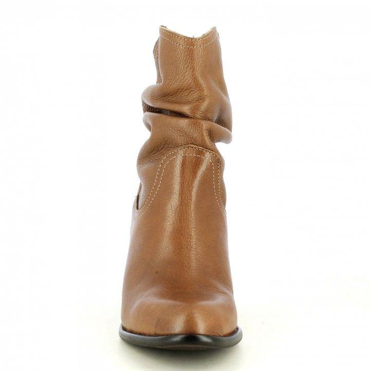 Botas tacón Redlove marrones con caña arrugada - Querol online
