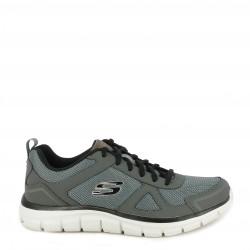 Zapatillas deportivas Skechers grises de cordones con tonos en negro