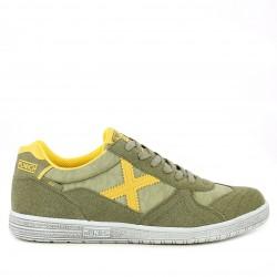 Zapatillas deportivas MUNICH g3 verdes y amarilla con cordones