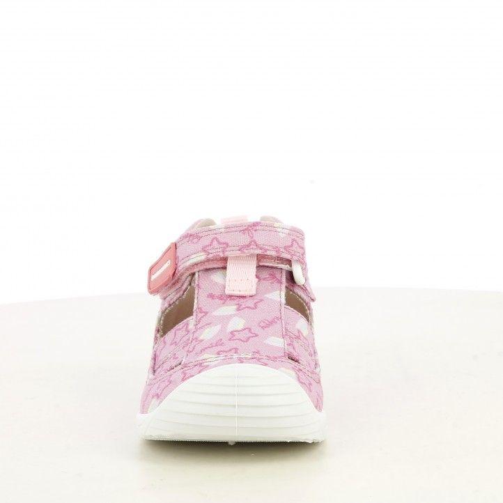 Sandàlies abotinades Biomecanics rosa capdavantera reforçada sola flexible i plantilla de pell extraïble - Querol online