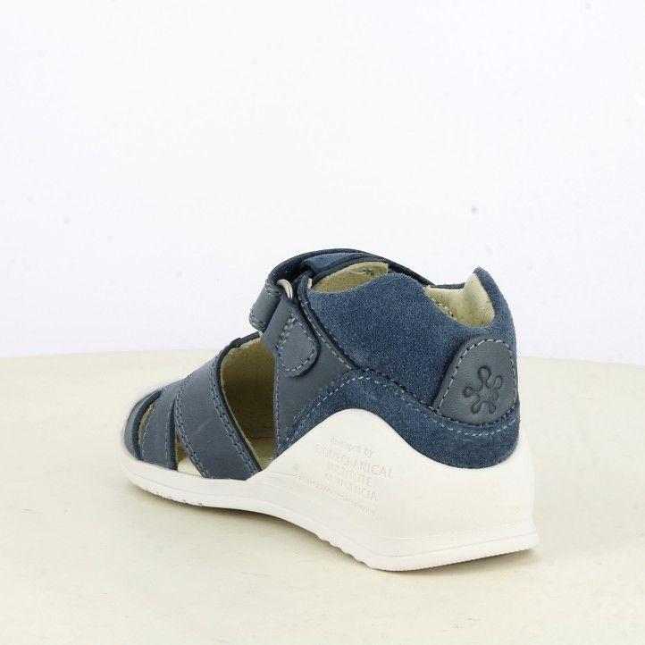 Sandàlies abotinades Biomecanics blau tancament amb velcro plantilla de pell màxima estabilitat - Querol online