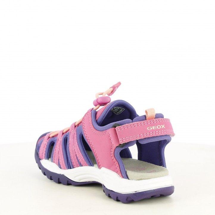 sandalias Geox rosa con lila transpirable e impermeable - Querol online