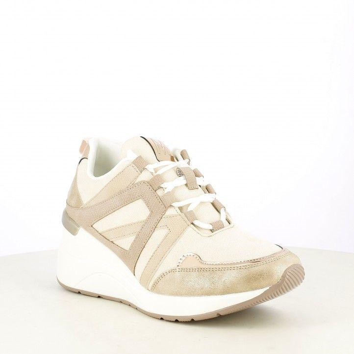 Zapatillas deportivas Maria Mare rosa palo con cordones y detalles brillantes - Querol online