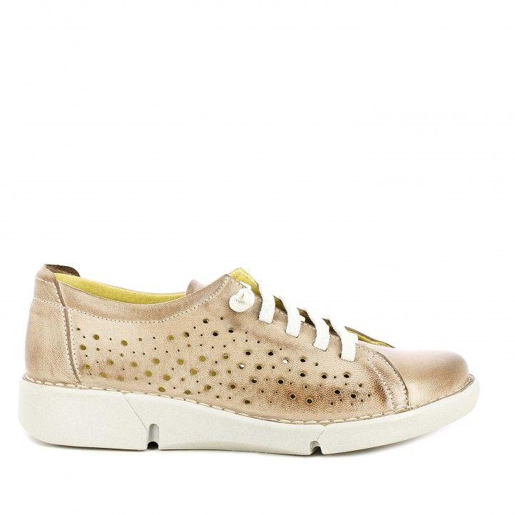 Zapatos planos Suite009 marron con cordones elásticos - Querol online