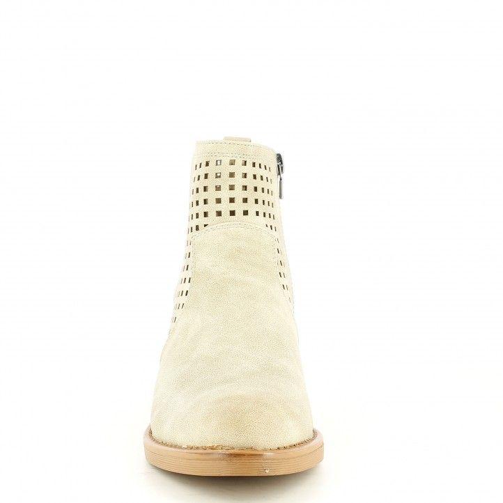 Botines tacón Maria Mare marrones con elástico lateral cierre con cremallera - Querol online