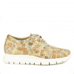 Zapatos planos Redlove marrón con estampado en en cuadros - Querol online