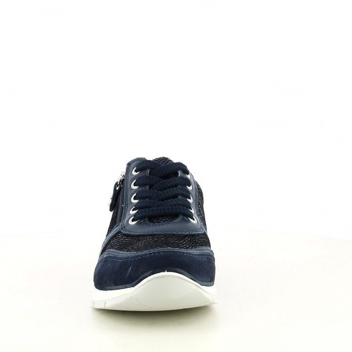 Zapatillas deportivas Imac azul marino com cordones y cremallera - Querol online