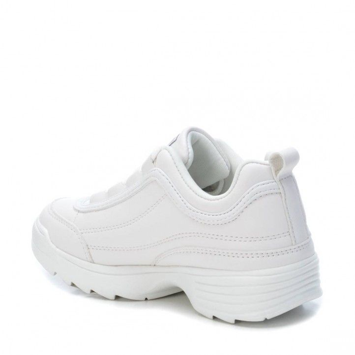 Zapatillas deporte XTI KIDS blancas de cordon suela de goma de 3cm 05703205 - Querol online