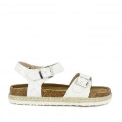 sandalias K-TINNI blancas con detalles en plateado - Querol online