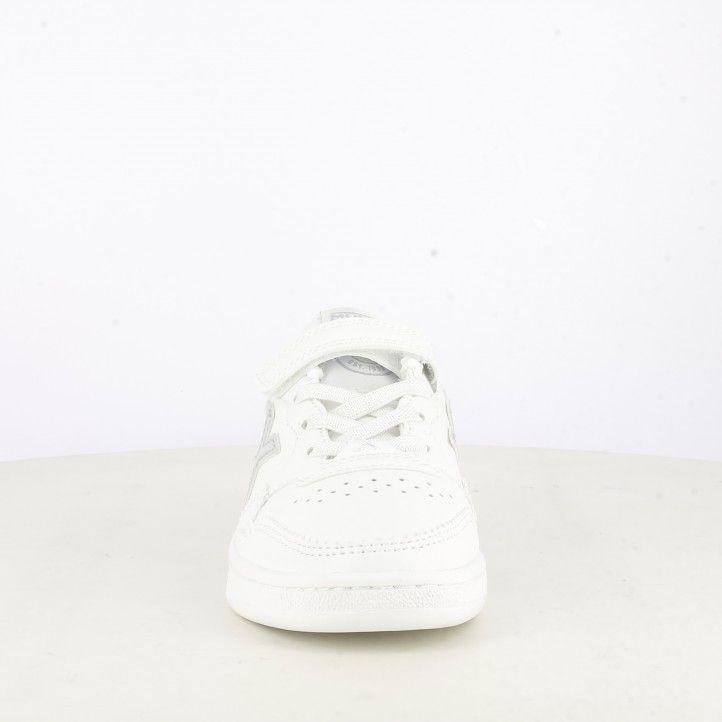 Zapatillas deporte Munich blancas con detalles en plateado arrow kid - Querol online