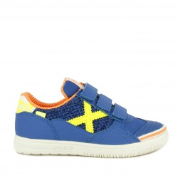 Zapatillas deporte Munich azules con velcro g3 kid indoor 1097 - Querol online