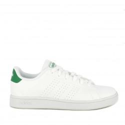 Zapatillas deportivas Adidas blancas advantage con bandas perforadas plantilla acolchada