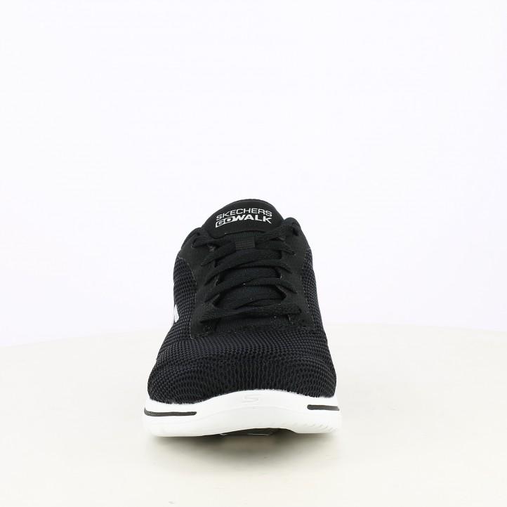 Zapatillas deportivas Skechers negras con cordones amortiguación ultra go plantillas air cooled goga mat - Querol online