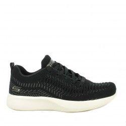 Zapatillas deportivas Skechers negras con detalles metálicos plantillas memory foam - Querol online
