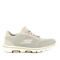Zapatillas deportivas Skechers taupe con cordones amortiguación ultra go plantillas air cooled goga mat - Querol online
