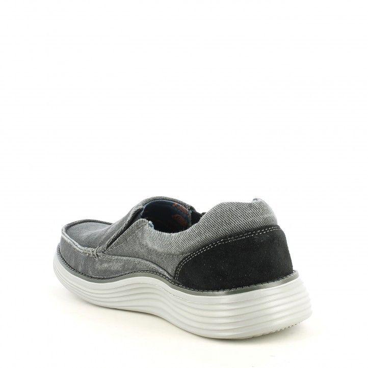 Zapatos sport Skechers negros sin cordones status 2.0 mosent - Querol online