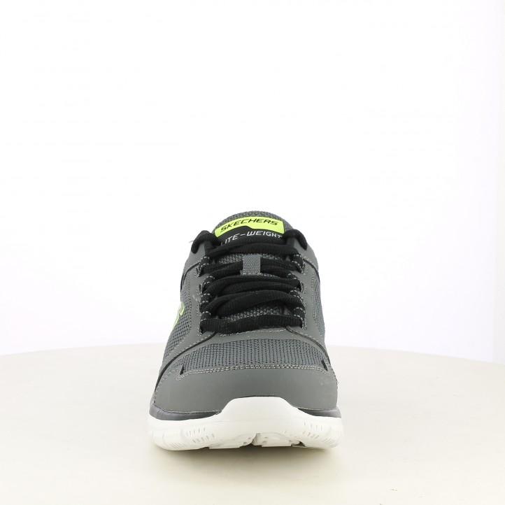 Sabatilles esportives Skechers grisos amb cordons track knockhill - Querol online