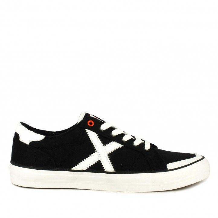 Zapatillas lona Munich negras con cordones toc 09 - Querol online