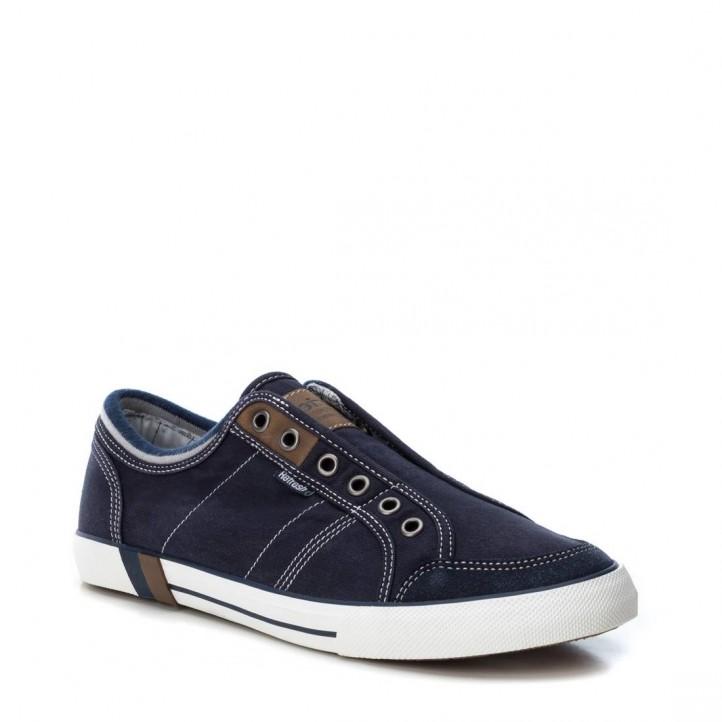 Zapatillas lona Refresh negras con suela blanca - Querol online