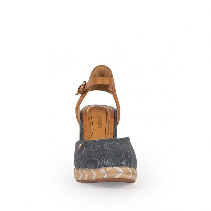 Sandàlies falca Wrangler blaves y marrons - Querol online